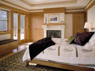 ,卧室,简约,田园,原木色,白色,