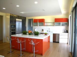 ,厨房,现代,宜家,红色,白色,