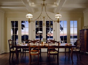 ,餐厅,欧式,白色,原木色,