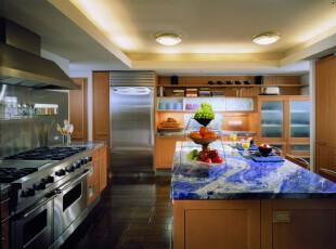 ,厨房,现代,黄色,紫色,