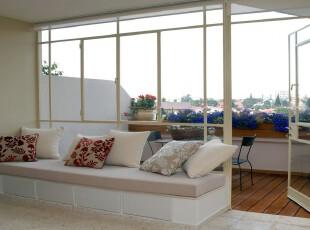 ,阳台,简约,白色,