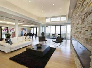 ,客厅,现代,简约,黑白,