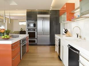 ,厨房,现代,宜家,红色,黑白,