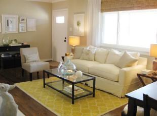 ,客厅,简约,小资,黄色,白色,