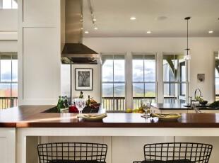 简约宜家风格吧台,和开阔大气的厨房连为一体,也显得简洁大方。,吧台,宜家,简约,红色,白色,
