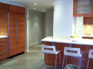 ,厨房,现代,白色,原木色,