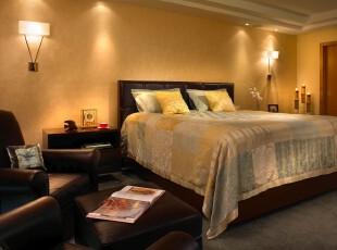 ,卧室,欧式,黄色,黑白,