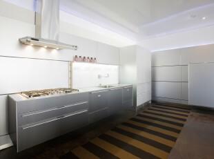 ,厨房,地台,现代,白色,