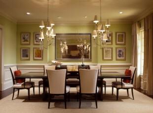 ,餐厅,墙面,灯具,欧式,绿色,