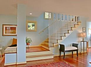 ,过道,楼梯,现代,蓝色,