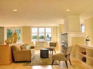 ,客厅,地台,欧式,白色,