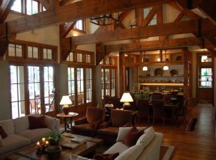 ,客厅,现代,中式,原木色,白色,