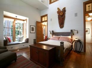 ,卧室,墙面,飘窗,中式,白色,原木色,粉色,