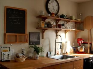,厨房,墙面,田园,原木色,