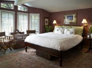 ,卧室,中式,紫色,绿色,白色,