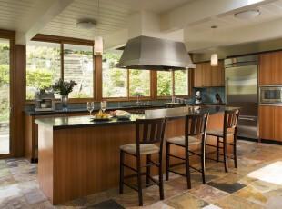 ,厨房,现代,原木色,