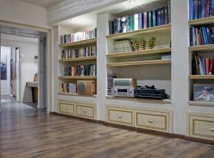 ,书房,过道,现代,白色,