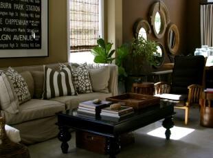 ,客厅,墙面,窗帘,中式,原木色,黑白,