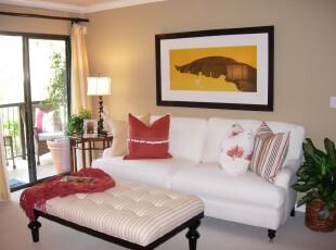 ,客厅,现代,简约,小资,黑白,黄色,红色,