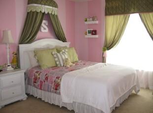 ,儿童房,欧式,粉色,白色,