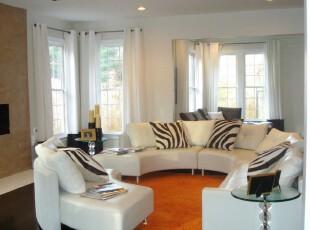 ,客厅,窗帘,现代,简约,小资,黑白,