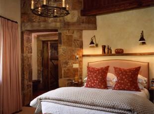 ,卧室,灯具,墙面,欧式,小资,红色,白色,