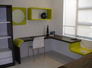 ,卧室,现代,宜家,黑白,绿色,