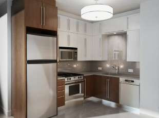 ,厨房,现代,宜家,白色,原木色,
