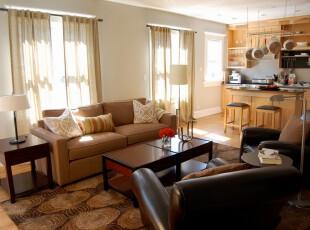 ,客厅,窗帘,地台,简约,小资,田园,原木色,