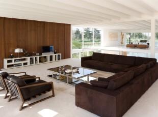 ,客厅,现代,宜家,原木色,黑白,