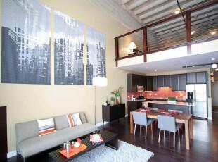 ,客厅,墙面,地台,现代,黑白,原木色,