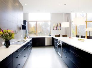 ,厨房,现代,简约,黑白,