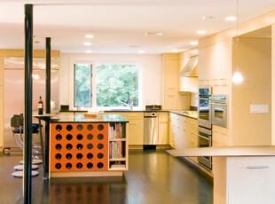 ,厨房,现代,黄色,黑白,