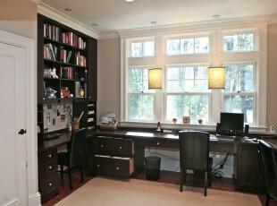 ,书房,工作台,灯具,窗帘,中式,黑白,