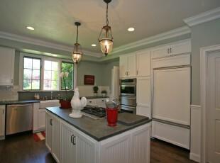 ,厨房,灯具,现代,黑白,