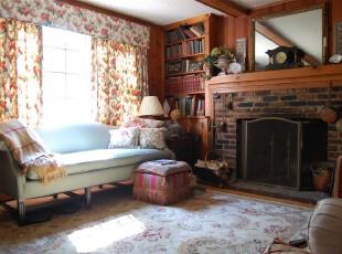 ,客厅,地台,墙面,窗帘,欧式,田园,小资,原木色,蓝色,