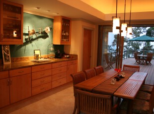 原木色的开放厨房,好心情从享用早餐开始,厨房,餐厅,欧式,原木色,