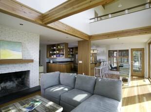 ,客厅,墙面,地台,过道,简约,小资,白色,原木色,
