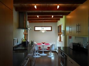 ,厨房,现代,简约,黄色,白色,原木色,