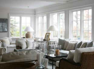 用白色营造温馨的宜家感觉,邀三两好友即可在客厅中放松交谈,客厅,新古典,小资,灯具,白色,