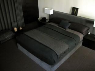 黑白色的现代风格卧室,卧室,现代,黑白,