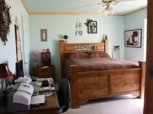 中式卧室,也有简约风