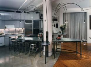 ,厨房,现代,宜家,黑白,原木色,