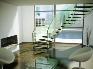 极具现代风格的楼梯,玻璃的采用给楼梯一种琳珑剔透的感觉,显眼的是黑色与原木色相间的阶梯,一眼望去就像钢琴键盘一般。,楼梯,现代,黑白,原木色,