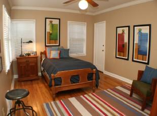 地中海风格卧室,一种自然的气息迎面而来。,卧室,地中海,相片墙,蓝色,白色,原木色,墙面,