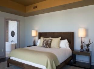 中式风格卧室,简约朴素。,卧室,中式,现代,简约,原木色,白色,绿色,春色,灯具,