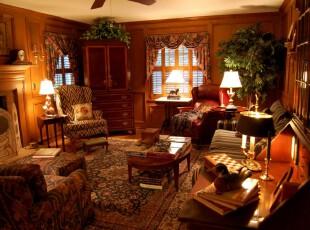 新古典主义客厅,充满古香古色,高贵典雅。,客厅,新古典,原木色,窗帘,灯具,墙面,