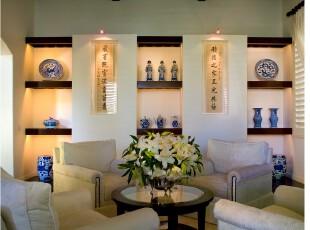 ,客厅,中式,黑白,