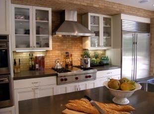 ,厨房,现代,黑白,