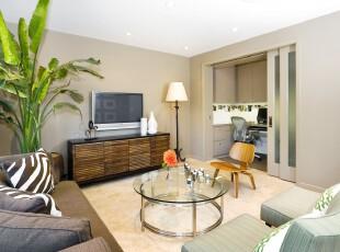 田园式的客厅,朴实、自然。,客厅,田园,简约,墙面,灯具,春色,原木色,